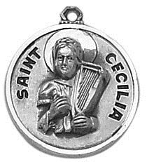 Sterling Patron Saint Cecilia Medal