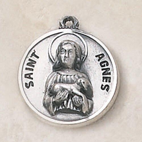 Sterling Patron Saint Agnes Medal