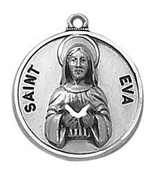 Creed® Sterling Patron Saint Eva Medal