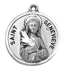 Sterling Patron Saint Genevieve Medal