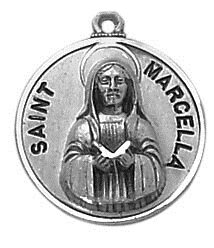 Sterling Patron Saint Marcella Medal