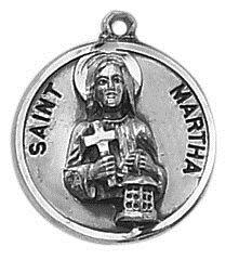 Sterling Patron Saint Martha Medal
