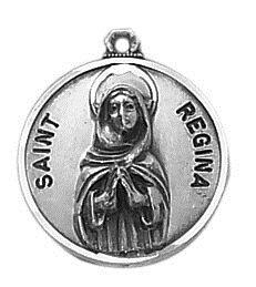 Sterling Patron Saint Regina Medal