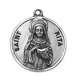 Sterling Patron Saint Rita Medal
