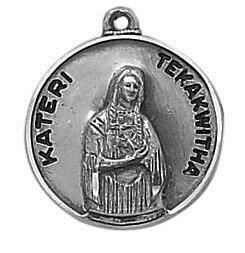 Sterling Patron Saint Blessed Kateri Medal