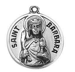 Sterling Patron Saint Barbara Medal