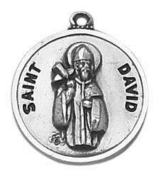 Sterling Patron Saint David Medal