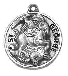 Sterling Patron Saint George Medal