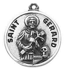 Sterling Patron Saint Gerard Medal