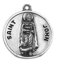 Creed® Sterling Patron Saint John Medal