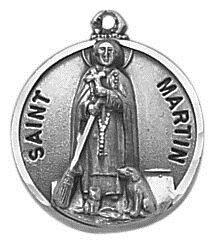 Sterling Patron Saint Martin Medal