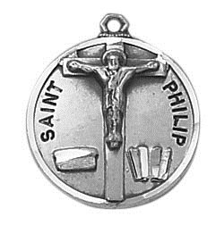 Sterling Patron Saint Philip Medal