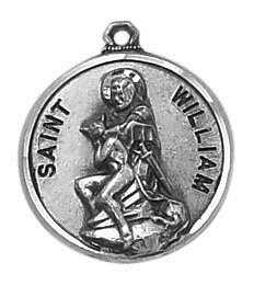 Sterling Patron Saint William Medal