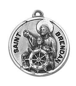 Sterling Patron Saint Brendan Medal