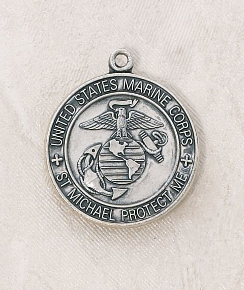 Sterling Silver Marine Corps Medal