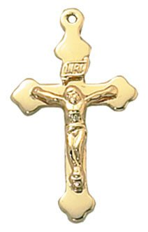 Creed® 24kt Gold Plate Over Sterling Crucifix
