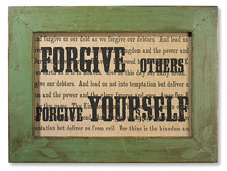 Forgive Others Forgive Yourself Framed Printed Linen Plaque