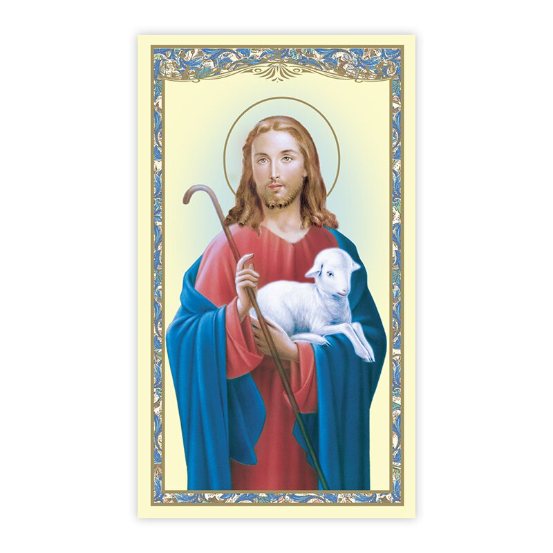 Christ the Good Shepherd Holy Card - 100/pk