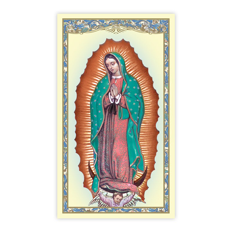 Our Lady of Guadalupe (Unborn Prayer) Holy Card - 100/pk