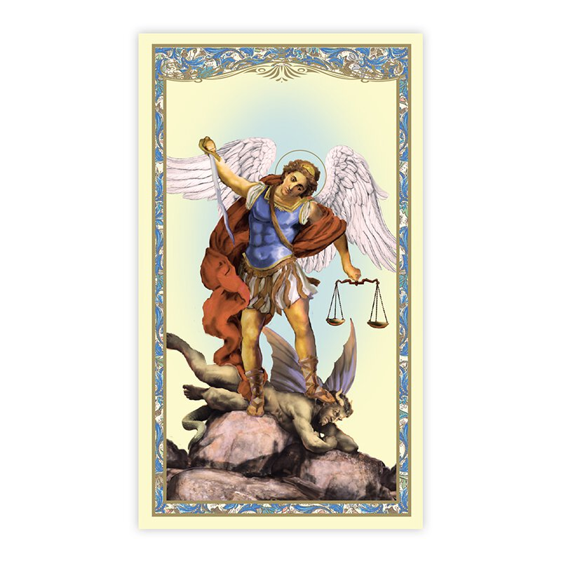 St. Michael Holy Card (Spiritual Armor) - 100/pk