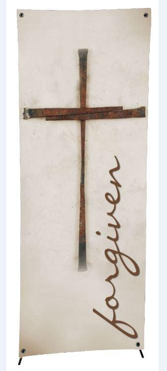 Lenten Series X-Stand Banner - Forgiven
