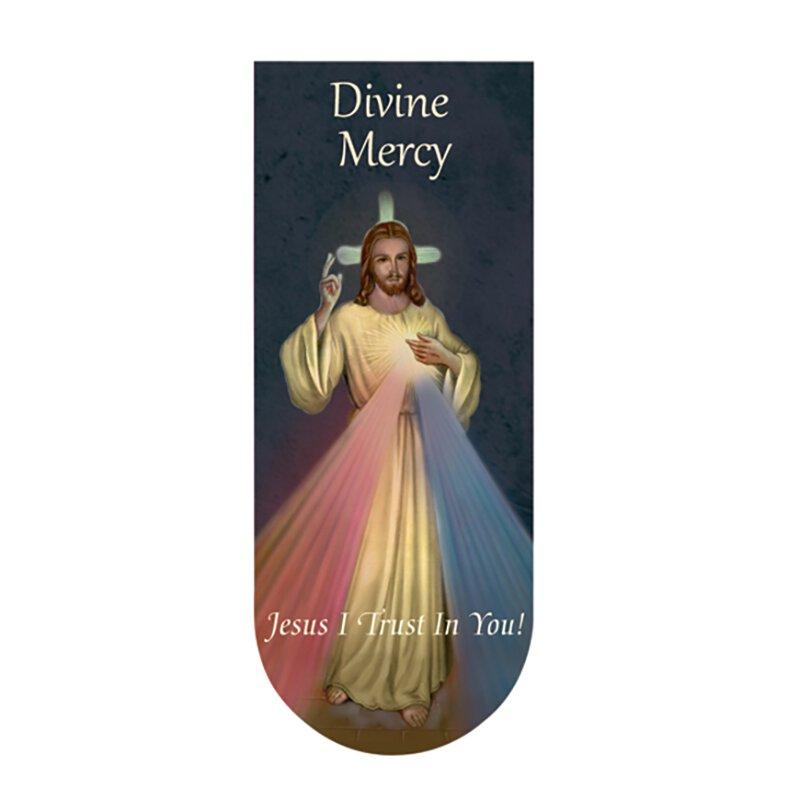Divine Mercy Magnetic Folding Bookmark - 24/pk