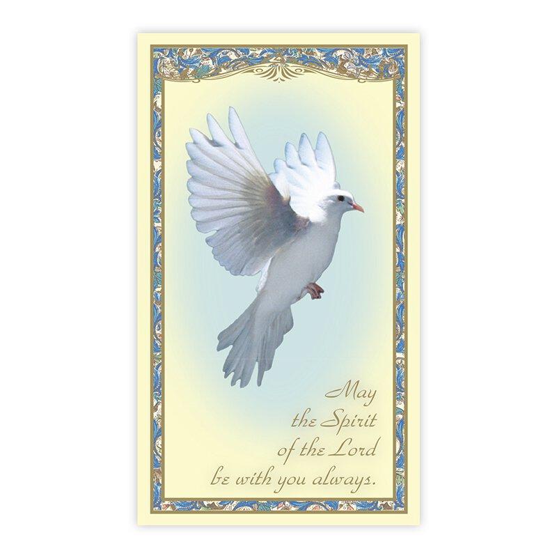 Isaiah 11:2 Confirmation Holy Card - 100/pk