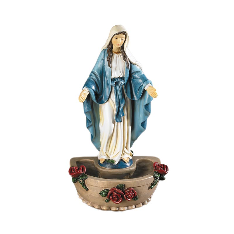 Our Lady of Grace Standing Holy Water Font