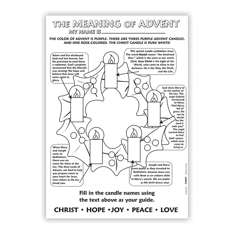 color your own poster the meaning of advent 50pk