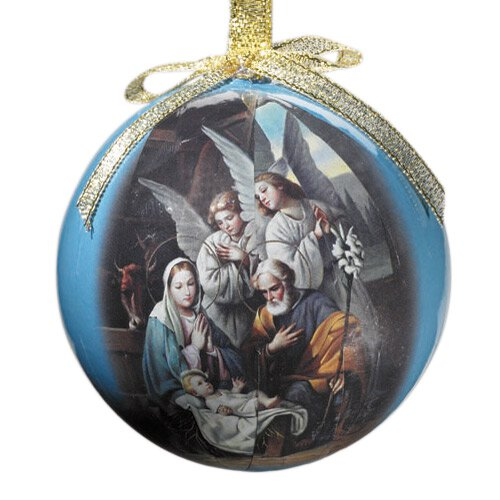 Blessed Art Thou Decoupage Ornament - 6/pk
