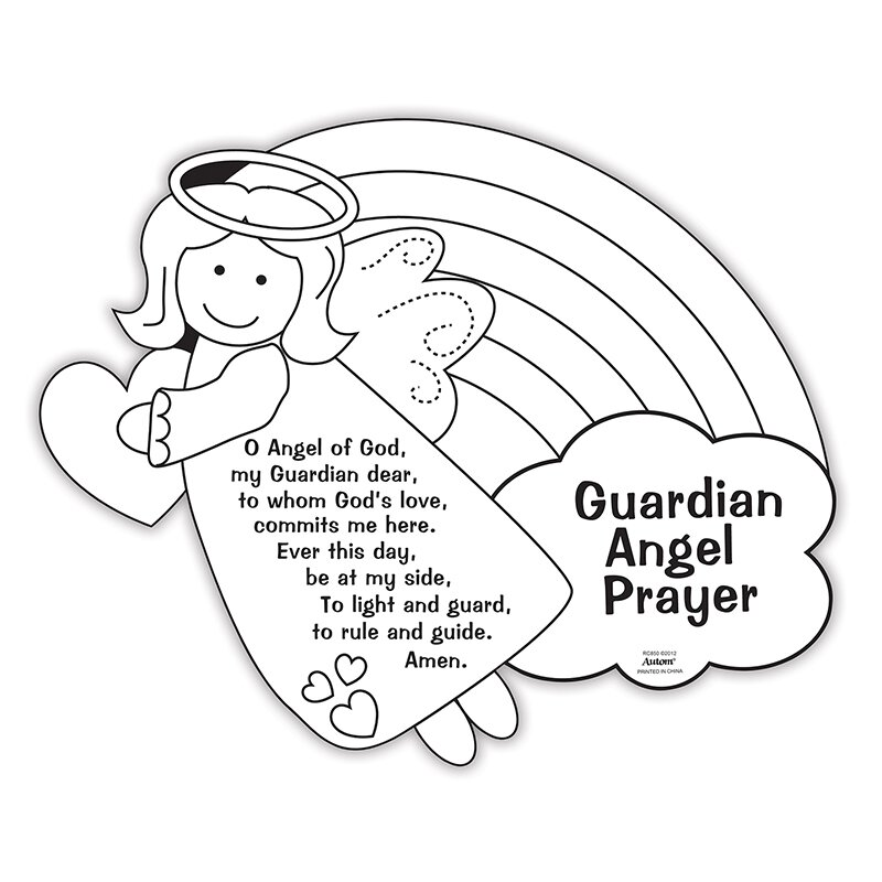Color Your Own Prayer Picture - Guardian Angel