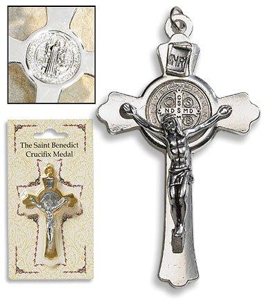 Silver Saint Benedict Cross - 6/pk