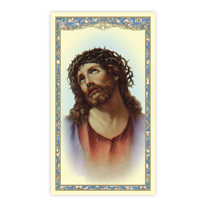 Ecce Homo Laminated Holy Card - 25/PK