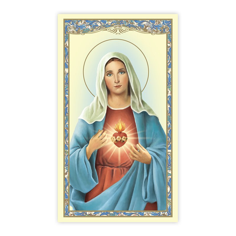 Immaculate Heart Laminated Holy Card - 25/PK