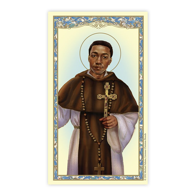 Saint Martin De Porres Laminated Holy Card