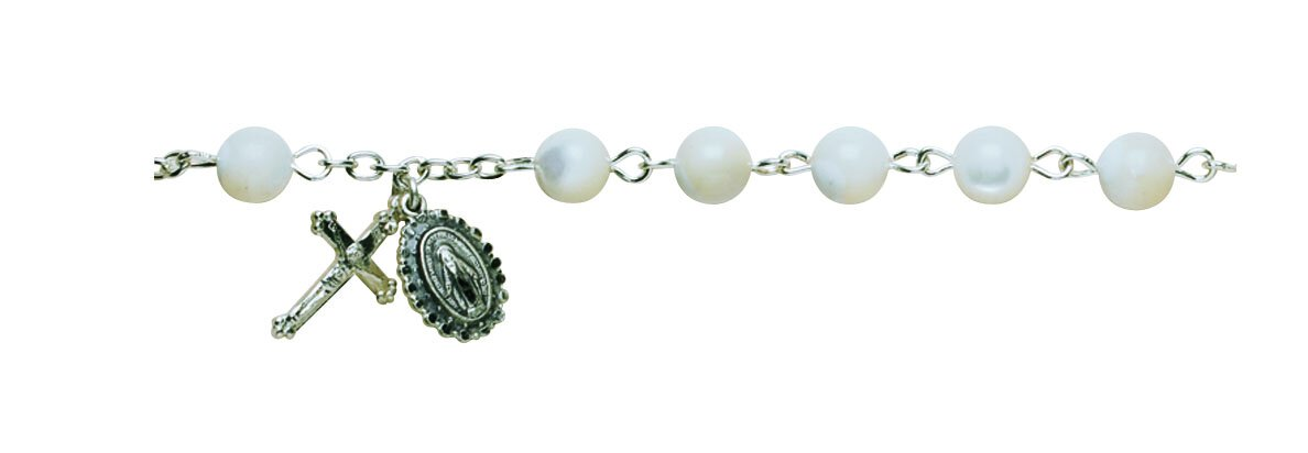 White Mother of Pearl Vienna Bracelet
