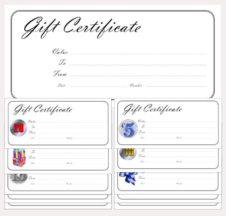 gift certificate template simple classic