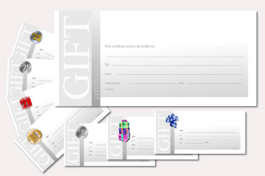 gift certificate template simple modern 2 black and white