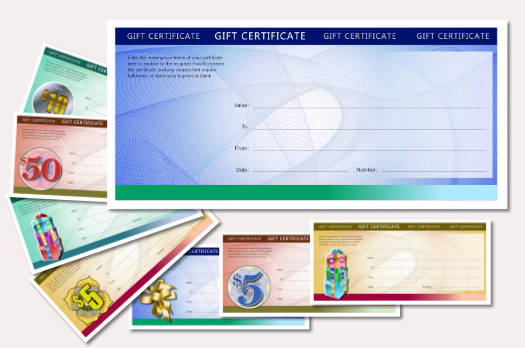 gift certificate template modern heavily colored