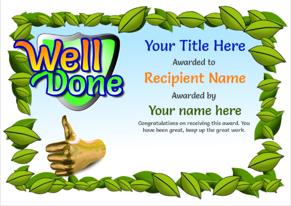 childrens-certificate-well-done Image