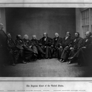 The Supreme Court of the United States, December 1864. A. Gardner, photographer. Source: Library of Congress