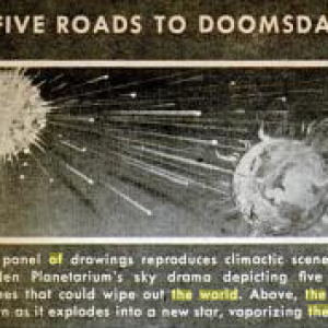 """An excerpt from a 1946 Popular Science article on the Hayden Planetarium's exhibit """"The End of the World."""""""