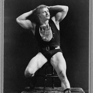 Strongman Eugene Sandow, c1893