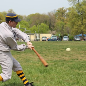 Member of the Chesapeake and Potomac Vintage Baseball Club (photo credit: Eric Mennel).