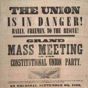 Constitutional Union Party, Mass Meeting Flyer (Perkins Library, Duke University)