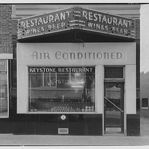 Air conditioning at the Keystone Restaurant (Library of Congress).