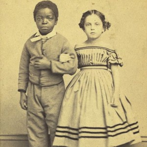 M. H. Kimball portrait of Isaac White and Rosina Downs, two New Orleans slave children, c. 1863. (Library of Congress).