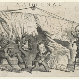 Dividing the National Map, 1860. Source: Library of Congress
