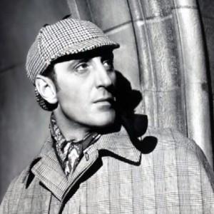 Basil Rathbone as Sherlock Holmes (1939 film series). Source: Wikimedia Commons