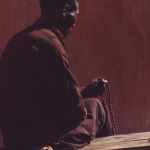 Lama in meditation, Sikkim, between 1965 and 1979. Source: Library of Congress